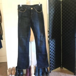 Rock & Republic Jeans w/stud detail SZ 8